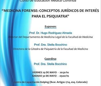 INSCRIPCIONES ABIERTAS Curso EMC: Medicina Forense: Conceptos Jurídicos de Interés para el Psiquiatra