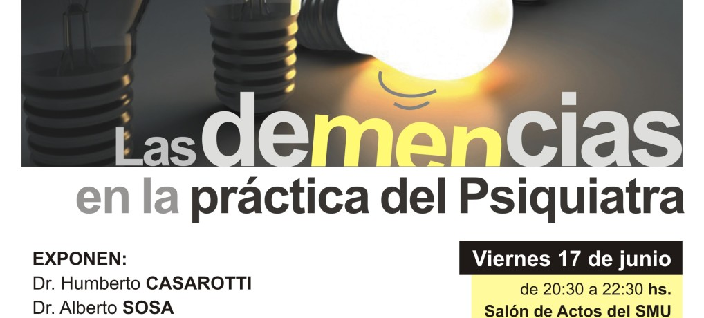 """Inscripciones abiertas curso de EMC: """"Las demencias en la práctica del Psiquiatra"""""""