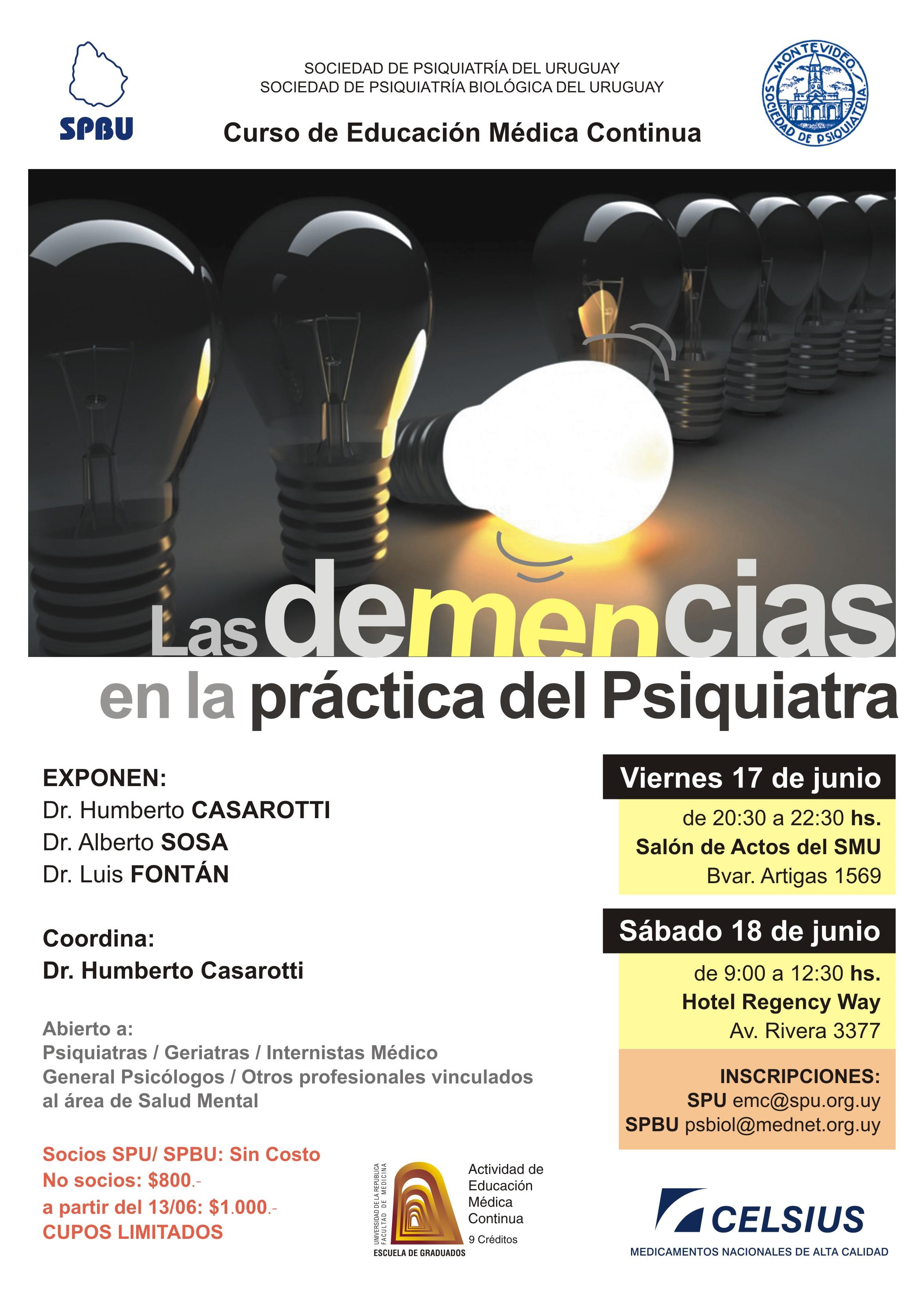 afiche CURSO DE DEMENCIAS