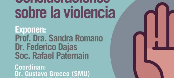 """Actividad científica: """"Consideraciones sobre la violencia"""""""