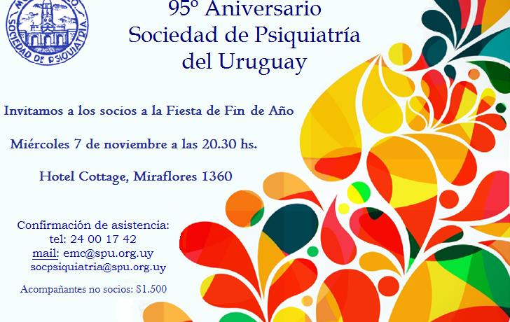 95º Aniversario de la Sociedad de Psiquiatría del Uruguay